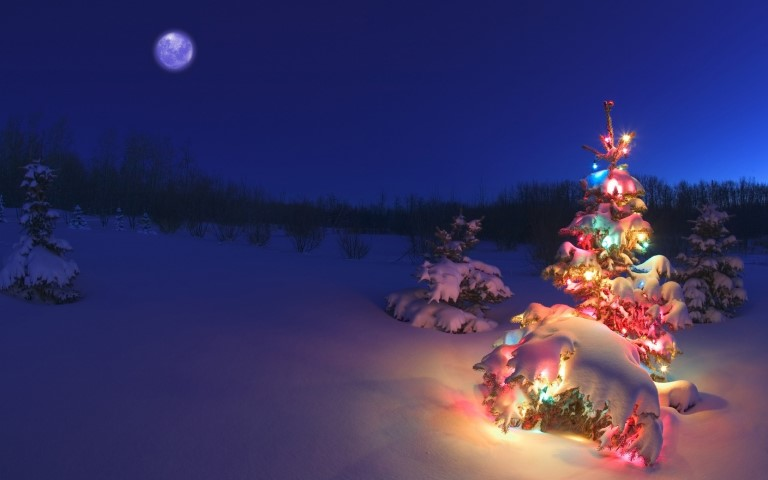 Snowy-Christmas-Tree-Wallpaper
