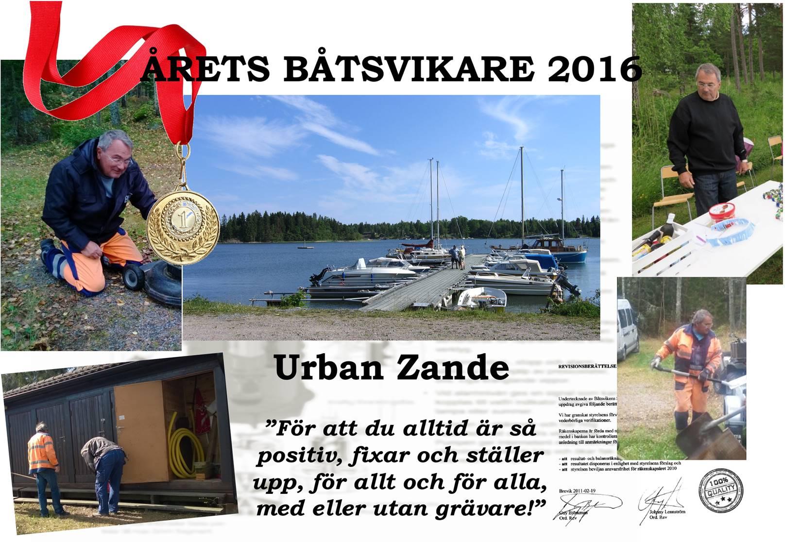 Årets Båtsvikare 2016